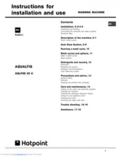 Hotpoint Aqualtis AQLF9D 69 U