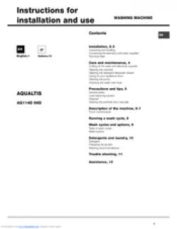 Hotpoint Aqualtis AQ114D 69D